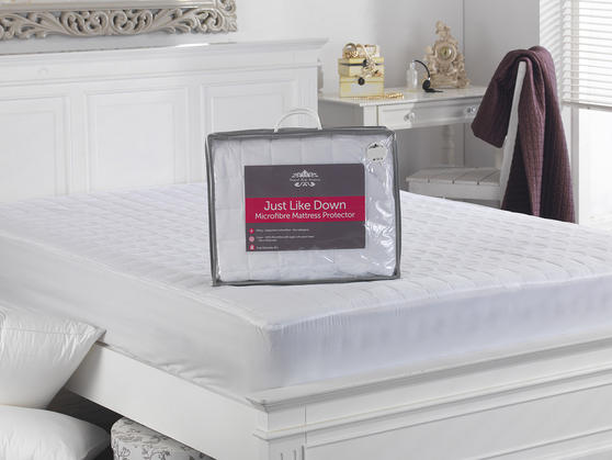 Soft as Down Microfibre Mattress Protector Thumbnail 2