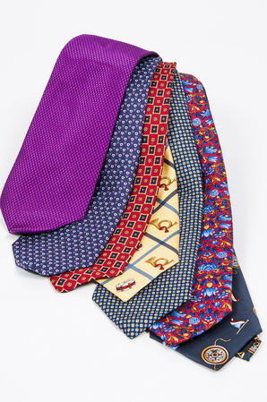 Cavenagh of London 7Piece 100% Pure Silk Ties Made in UK (502D)RRP£139.99 Thumbnail 1
