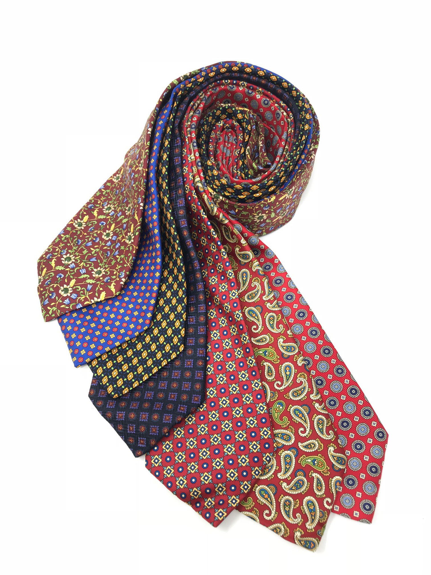 Cavenagh of London 7Piece 100% Pure Silk Ties Made in UK (327D)RRP£139.99