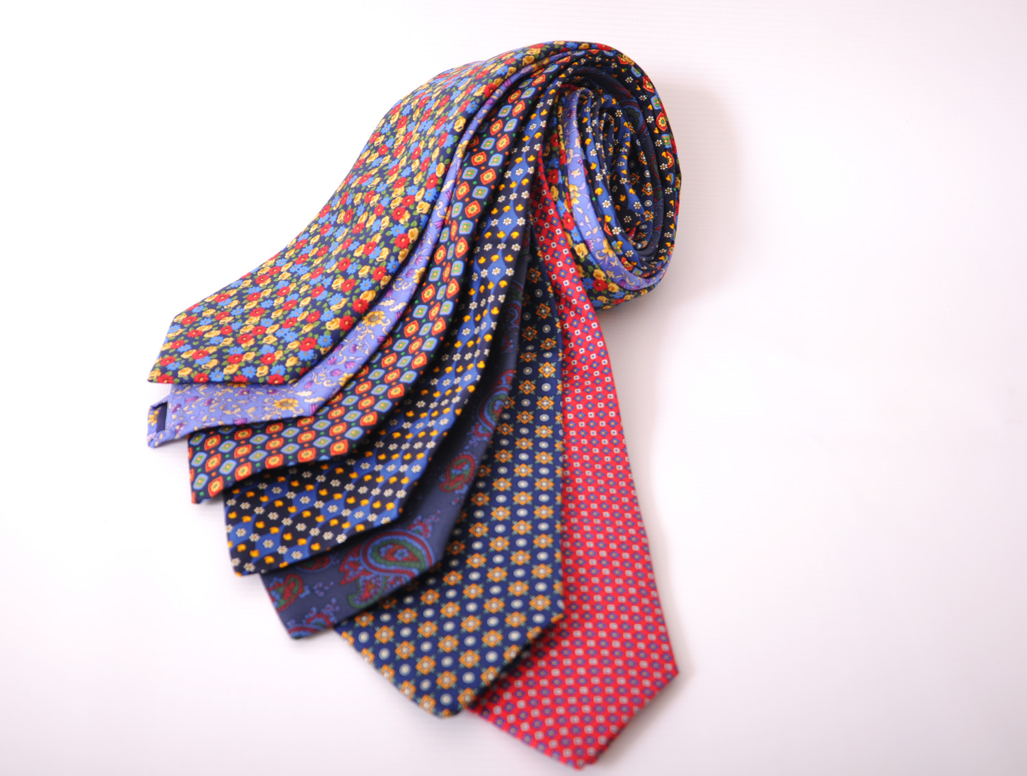 Cavenagh of London 7Piece 100% Pure Silk Ties Made in UK (428D)RRP£139.99