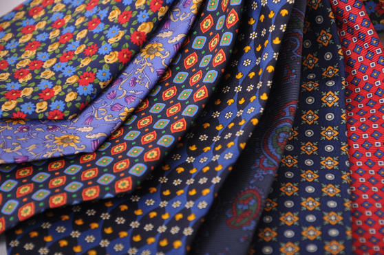 Cavenagh of London 7Piece 100% Pure Silk Ties Made in UK (428D)RRP£139.99 Thumbnail 2