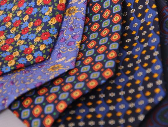 Cavenagh of London 7Piece 100% Pure Silk Ties Made in UK (428D)RRP£139.99 Thumbnail 3
