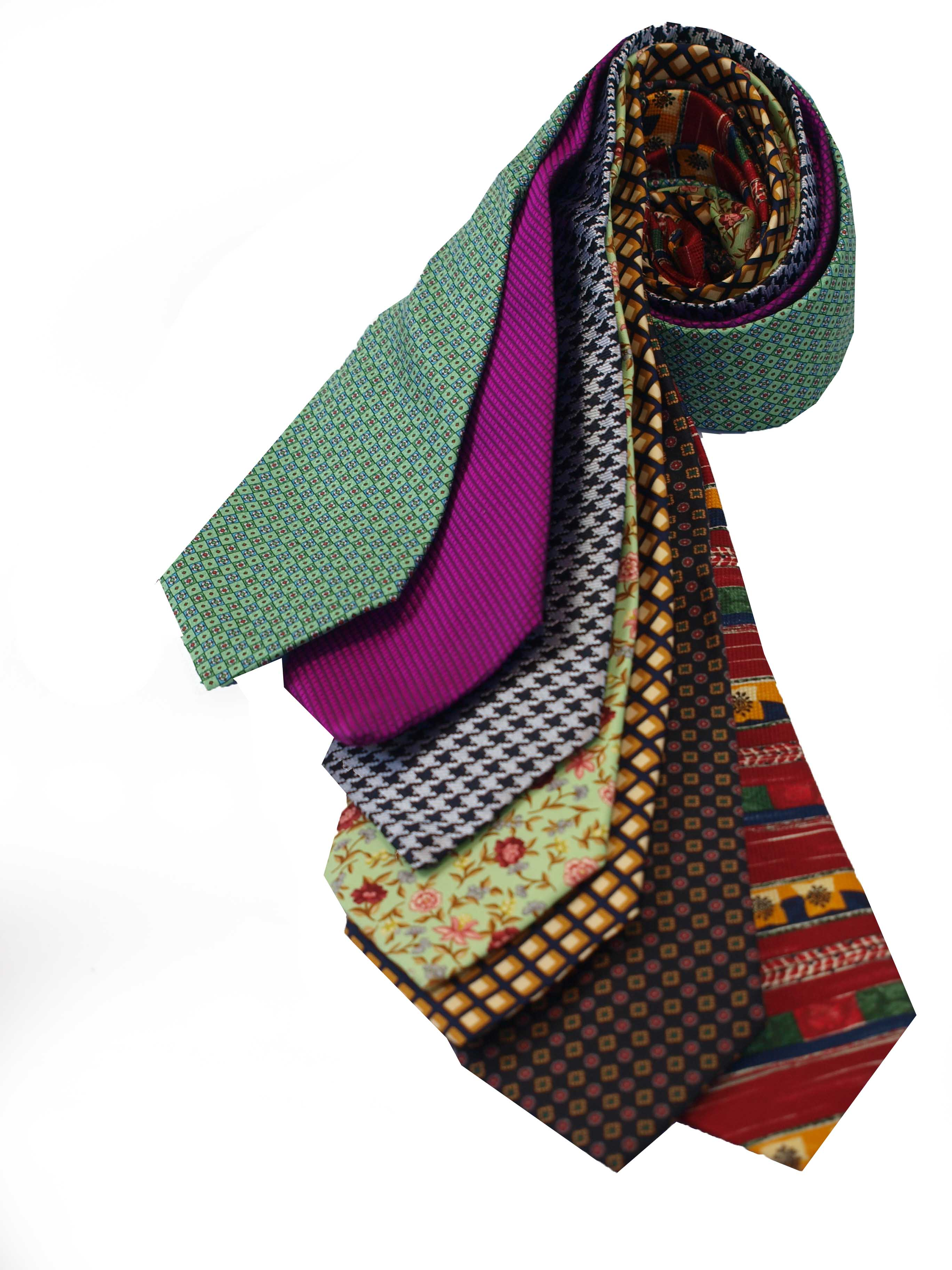 Cavenagh of London 7Piece 100% Pure Silk Ties Made in UK (204D)RRP£139.99