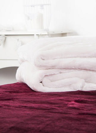 Luxury Plush Fleece Throw in Various Colours
