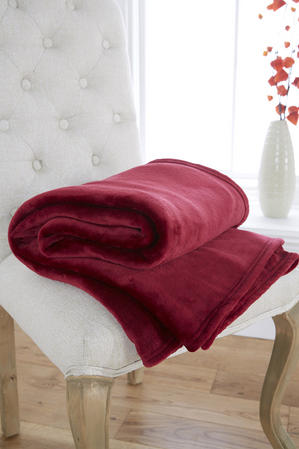 Ultra Plush 270Gsm Plain Fleece Throws/Blankets