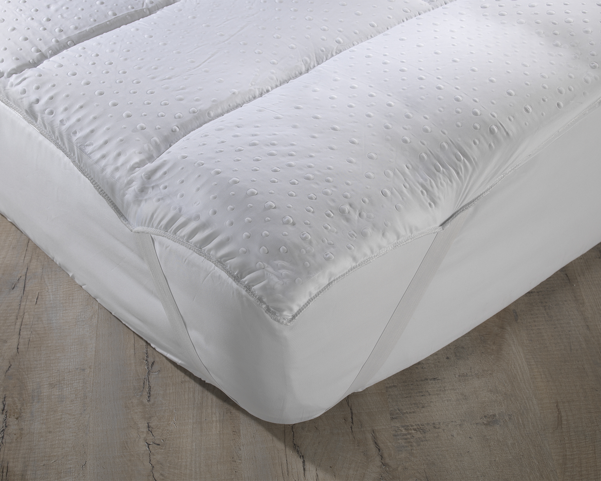 Topper Hollowfibre Filled Blended Cotton Cover All Sizes Mattress Reviver