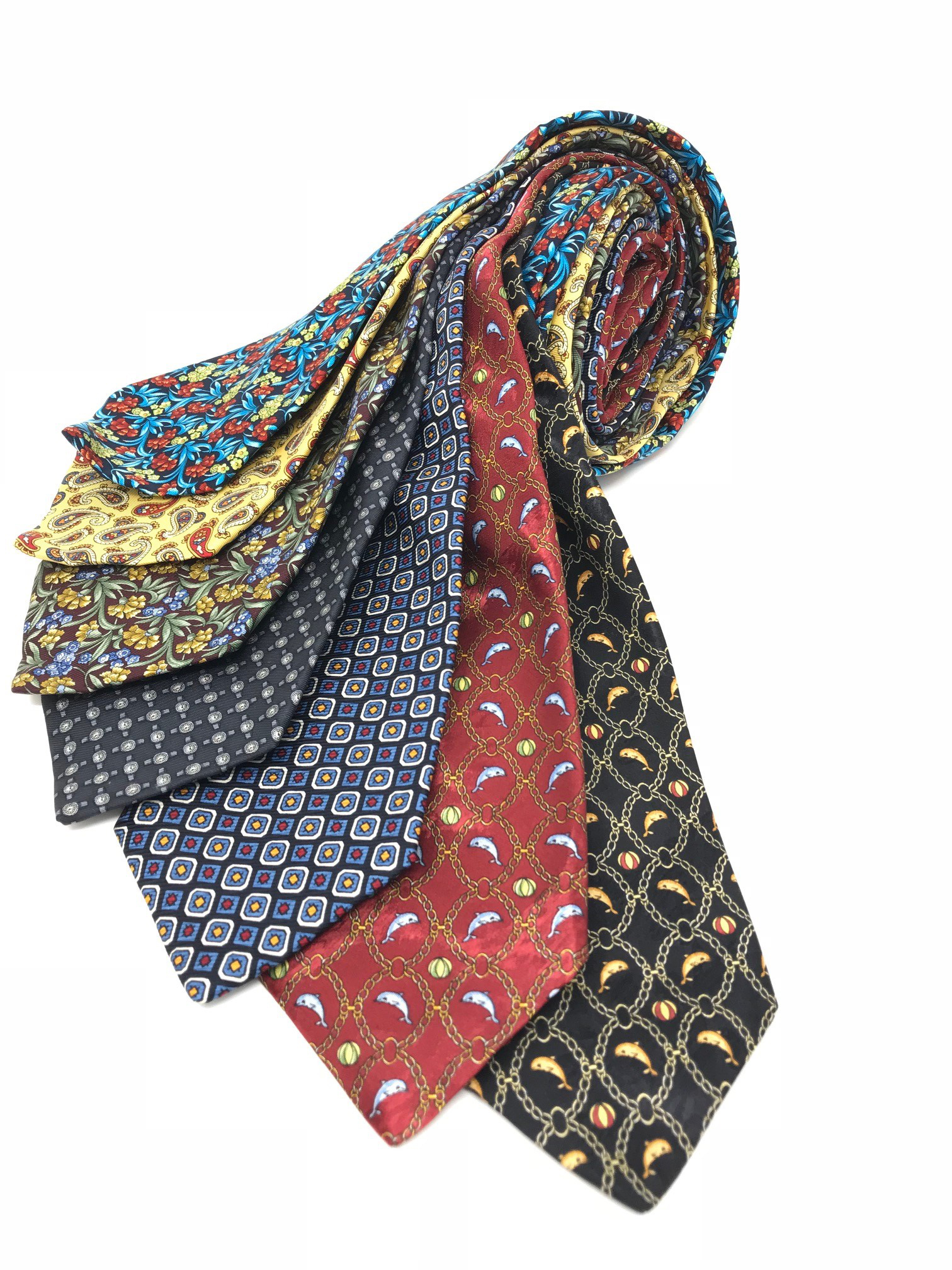 Cavenagh of London 7Piece 100% Pure Silk Ties Made in UK (517D)RRP£139.99