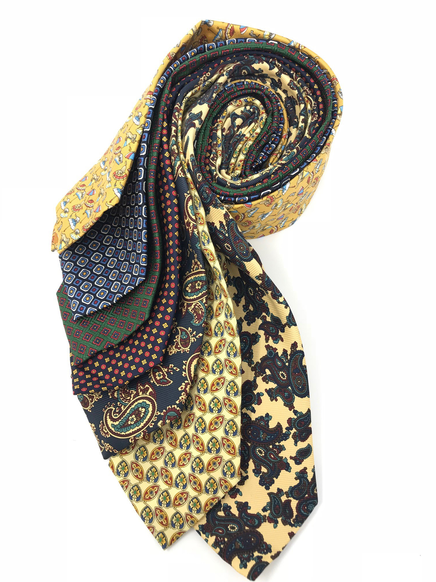 Cavenagh of London 7Piece 100% Pure Silk Ties Made in UK (618D)RRP£139.99
