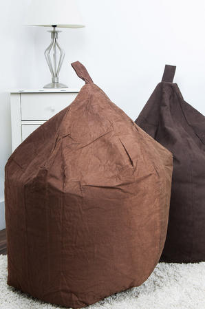 Classic FAUX Suede BEAN BAG Chocolate LARGE ADULT CHILDREN SEAT CHAIR Thumbnail 2