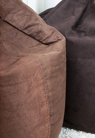 Classic FAUX Suede BEAN BAG Chocolate LARGE ADULT CHILDREN SEAT CHAIR Thumbnail 3