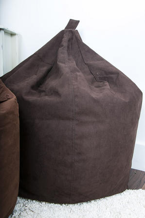 Classic FAUX Suede BEAN BAG Chocolate LARGE ADULT CHILDREN SEAT CHAIR