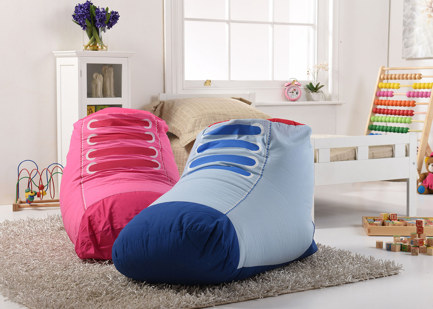 Lancashire Textiles Kids/ Children Funky Trainer Shape Bean Bags