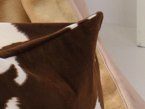 Faux Fur Safari Animal Brown and Cream Bean Bag Cube Thumbnail 3
