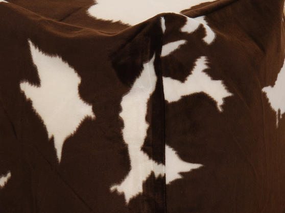 Faux Fur Safari Animal Brown and Cream Bean Bag Cube Thumbnail 2
