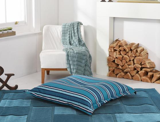 Stipped BEAN BAG / SLAB XL Blue Purple Adult Pet Bed Thumbnail 2