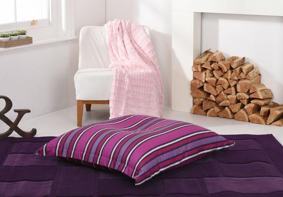 Stipped BEAN BAG / SLAB XL Blue Purple Adult Pet Bed Thumbnail 3