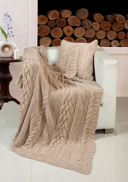 Luxurious Heavyweight Kint Throw - 2 Colours