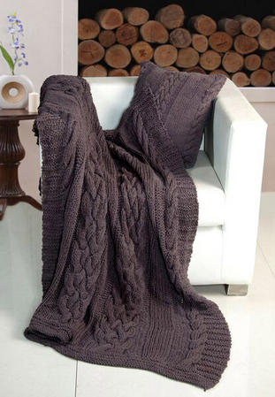 Luxurious Heavyweight Kint Throw - 2 Colours Thumbnail 2