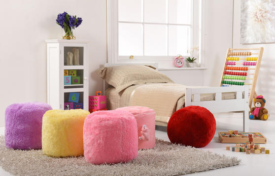 Plush Kids 2 Piece Cushion and Pouffe Accessorie Set