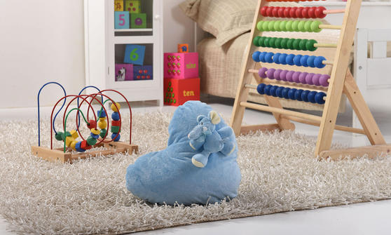 Little Elephant Kids 3 Piece Cushion Pouffe and Door Stop Accessorie Set in Blue