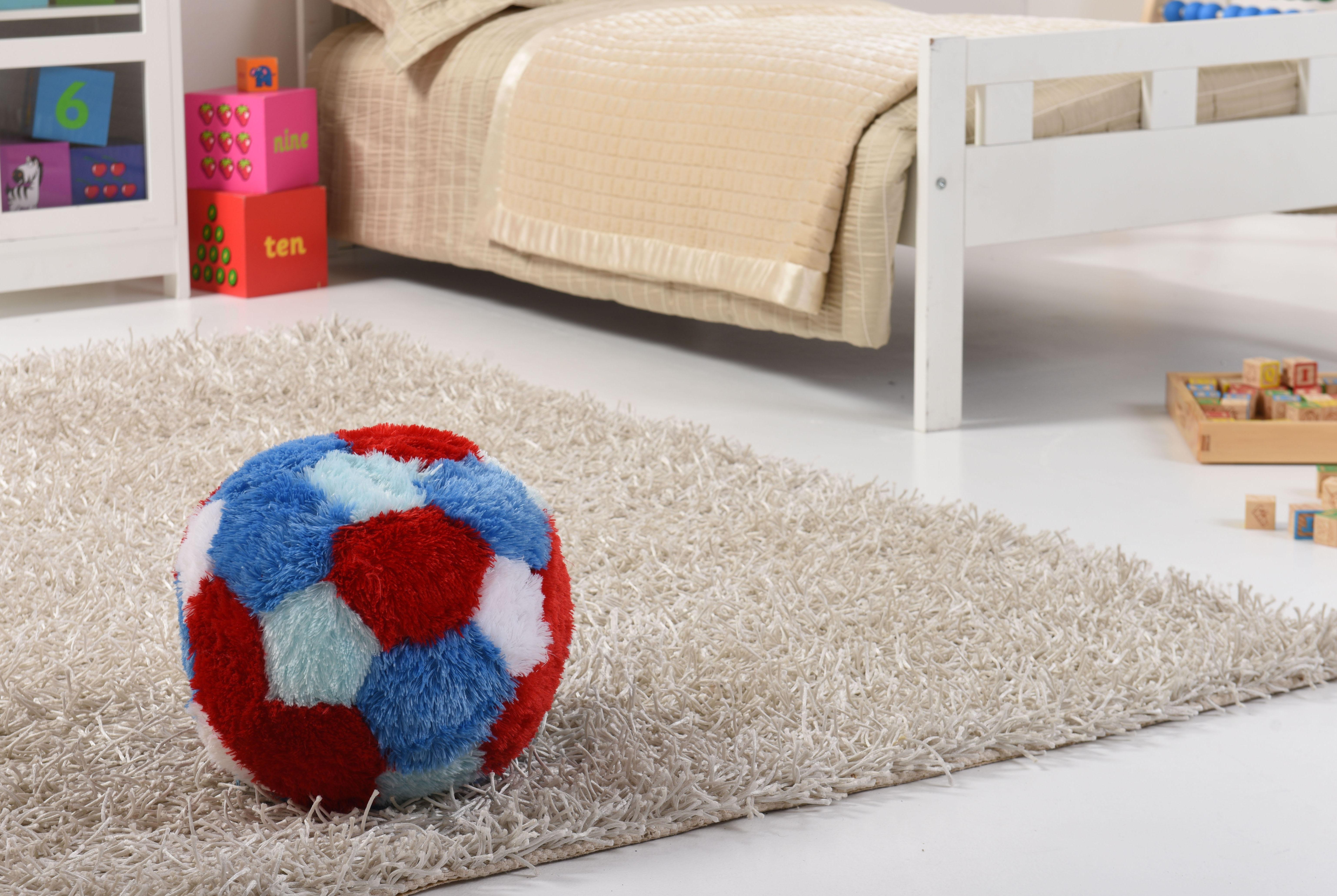 Kids Super Plush Fur-Ball Cushion/Pouffe