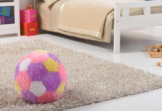 Kids Super Plush Fur-Ball Cushion/Pouffe Thumbnail 2