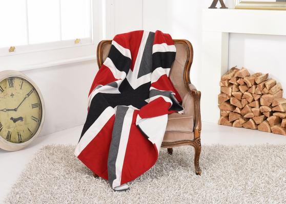 Union Jack Heavyweight Wool Throw/Blanket