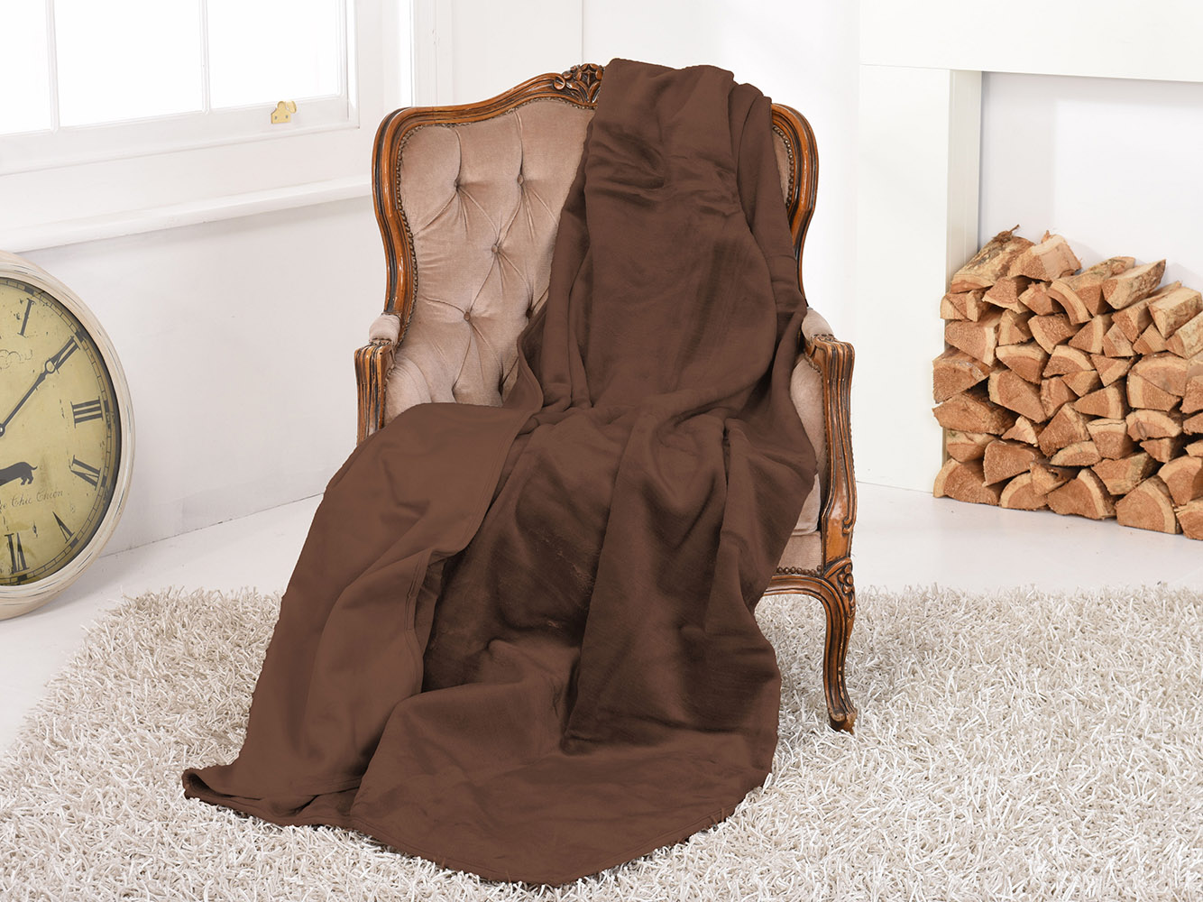 Luxury Faux Suede Throw