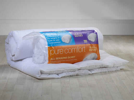 4.5 & 10.5 Tog - All Season 5* Anti-Allergy Polycotton 15 Tog Duvet  Thumbnail 3