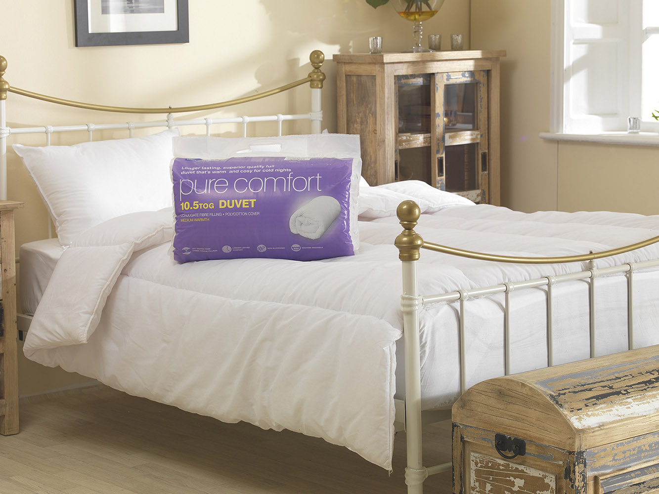 10.5 Tog - Luxury Super Soft Hollowfibre Filled Duvet
