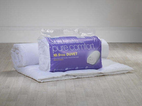 10.5 Tog - Luxury Super Soft Hollowfibre Filled Duvet Thumbnail 3