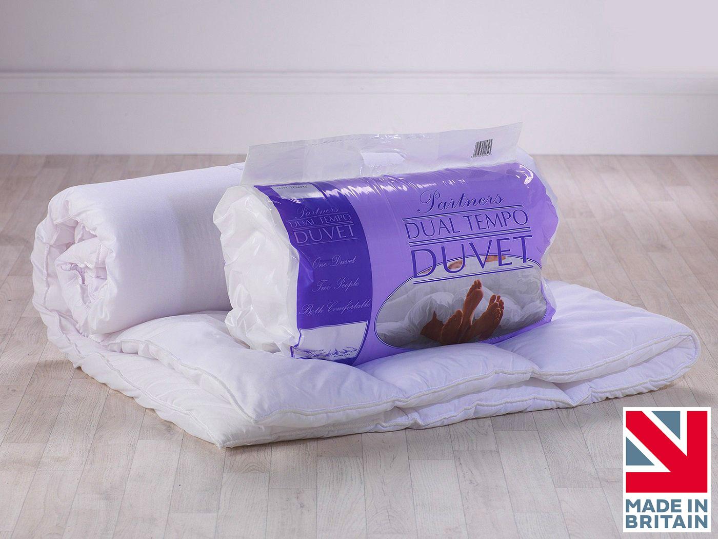 14 & 7 Tog - Luxury Dual Tog Temperature Balance Partner Couples Cosy Duvet