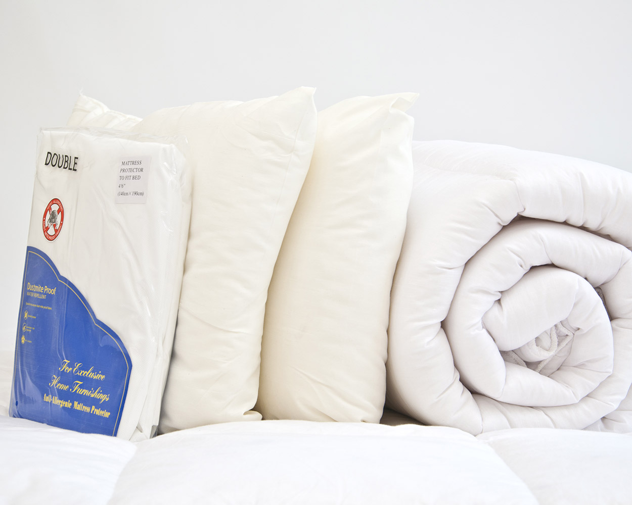 barrier cotton protector duvet allergen