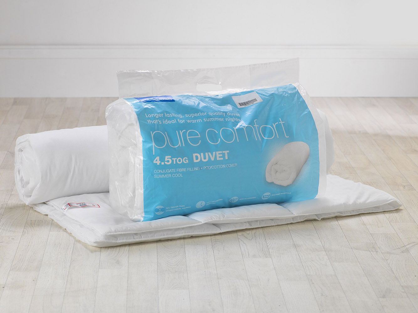 Slight Second - 4.5 Tog Pure Comfort Polycotton Hollowfibre Duvet