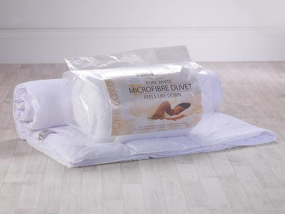 Slight Second - 4.5 Tog Pure White Microfibre Duvet Thumbnail 2