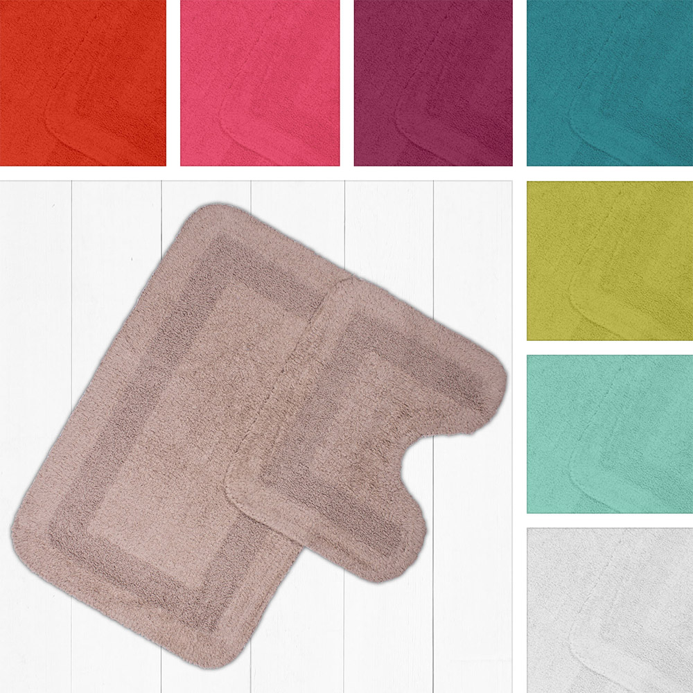 Mayfair, 100% Cotton, 2 Piece Bath Mat and Pedestal Set