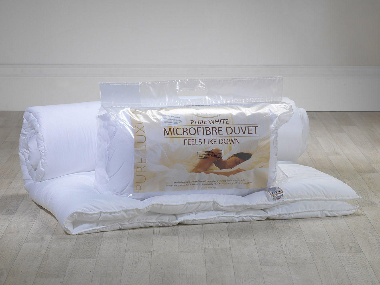 10.5 Tog - Pure White Microfibre Duvet