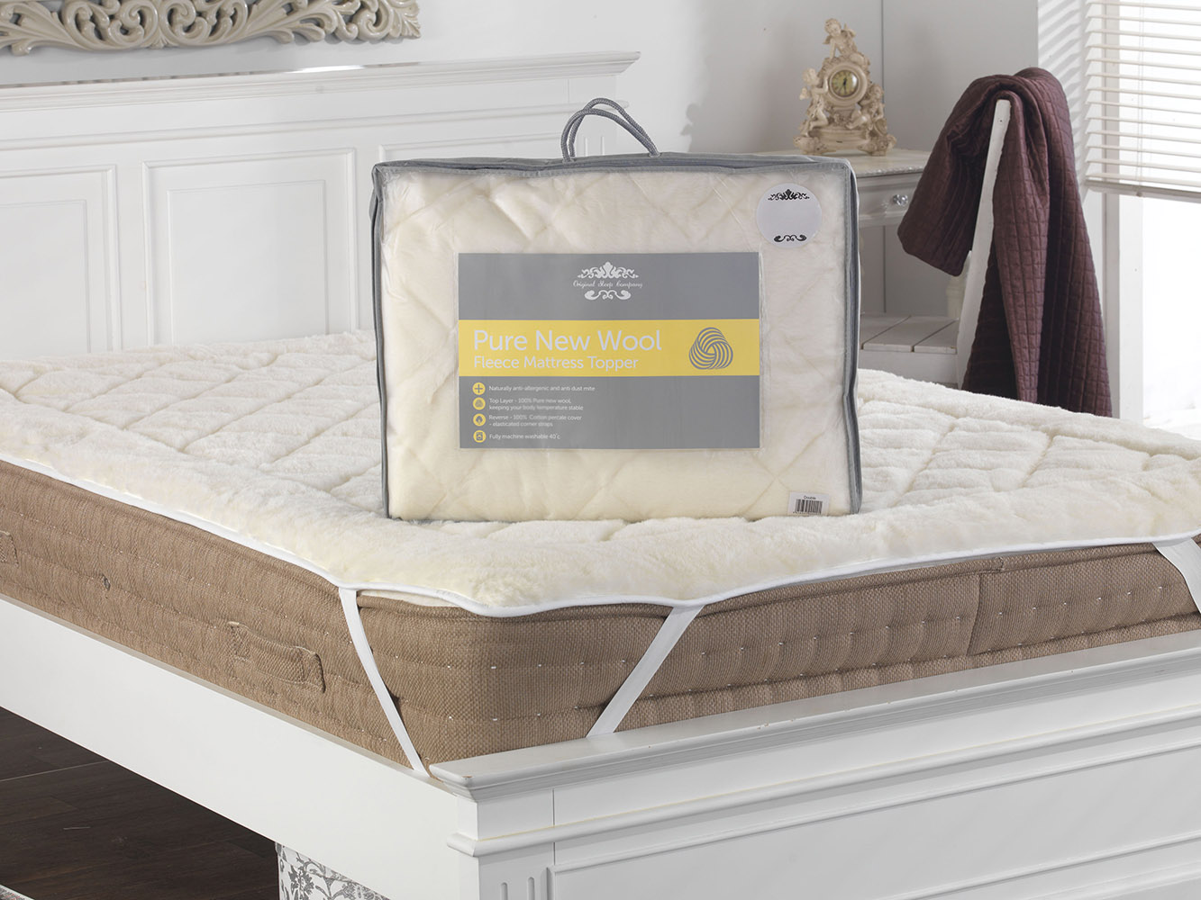 Reversible Australian Wool Mattress Topper