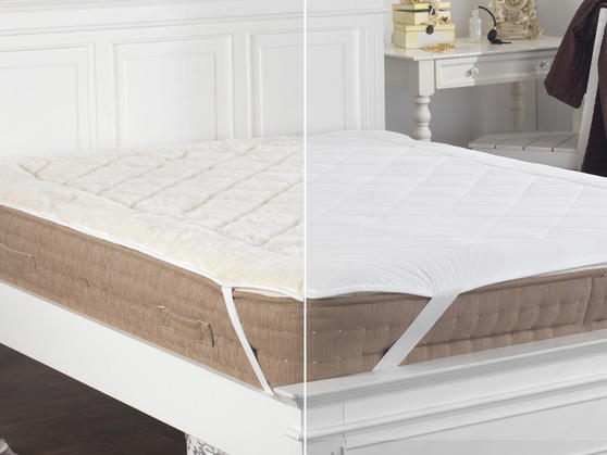 Reversible Australian Wool Mattress Topper Thumbnail 3