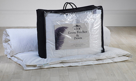 13.5 Tog - Pure White, Goose Feather and Down Duvet Thumbnail 1