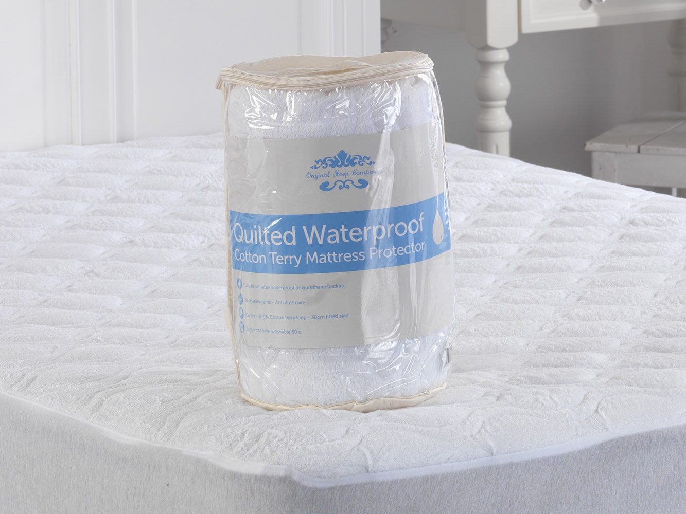 Cotton Quilted Terry Towelling Mattress Protector