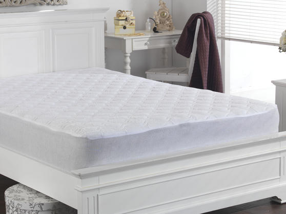 Cotton Quilted Terry Towelling Mattress Protector Thumbnail 2