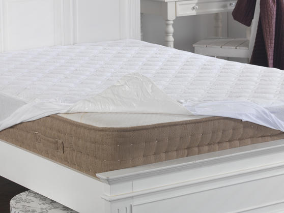 Cotton Quilted Terry Towelling Mattress Protector Thumbnail 3