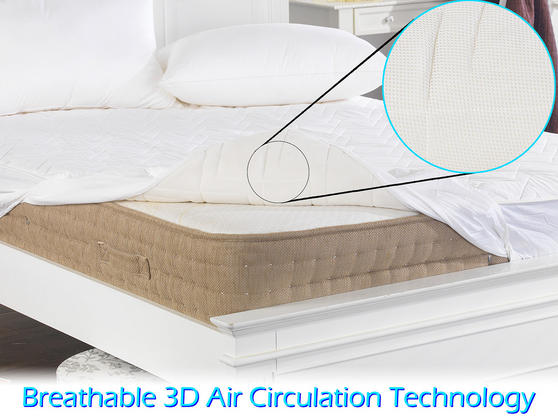 Keep Cool 3D Air Relaxation Quilted Cotton Mattress Protector  Thumbnail 4