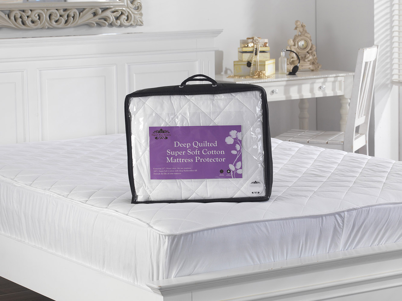 300 TC - Extra Thick, Quilted Cotton Mattress Protectors