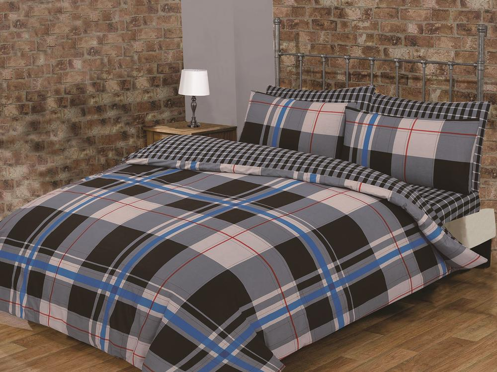 Burberry Look Easy Care Percale Classic Check Print Reversable Atlanta Duvet Set Thumbnail 1
