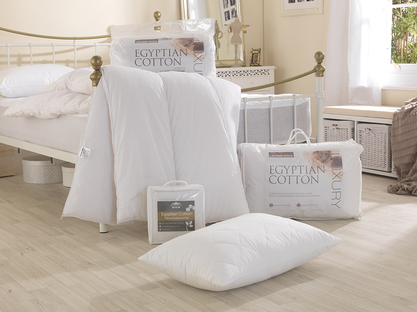 4.5 Tog - Luxury Egyptian Cotton Hollowfibre Filled Duvet