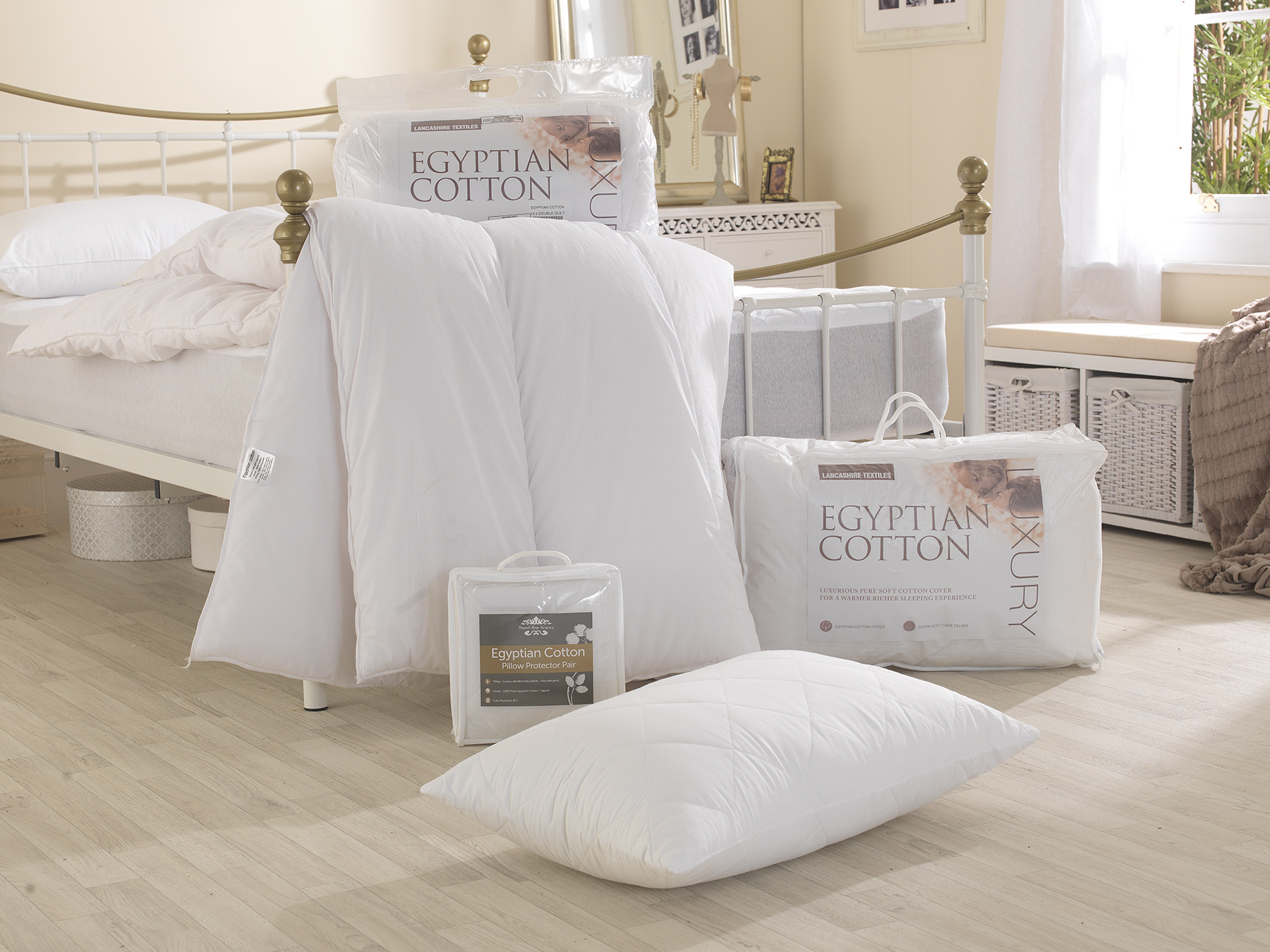 Luxury Egyptian Cotton Hollowfibre Filled 10.5 Tog Duvets