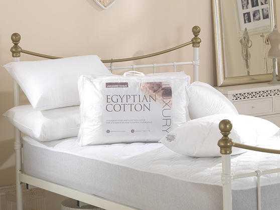 Luxury High Quality Egyptian Cotton Pillows Various Pack Sizes Available UK Made Thumbnail 1