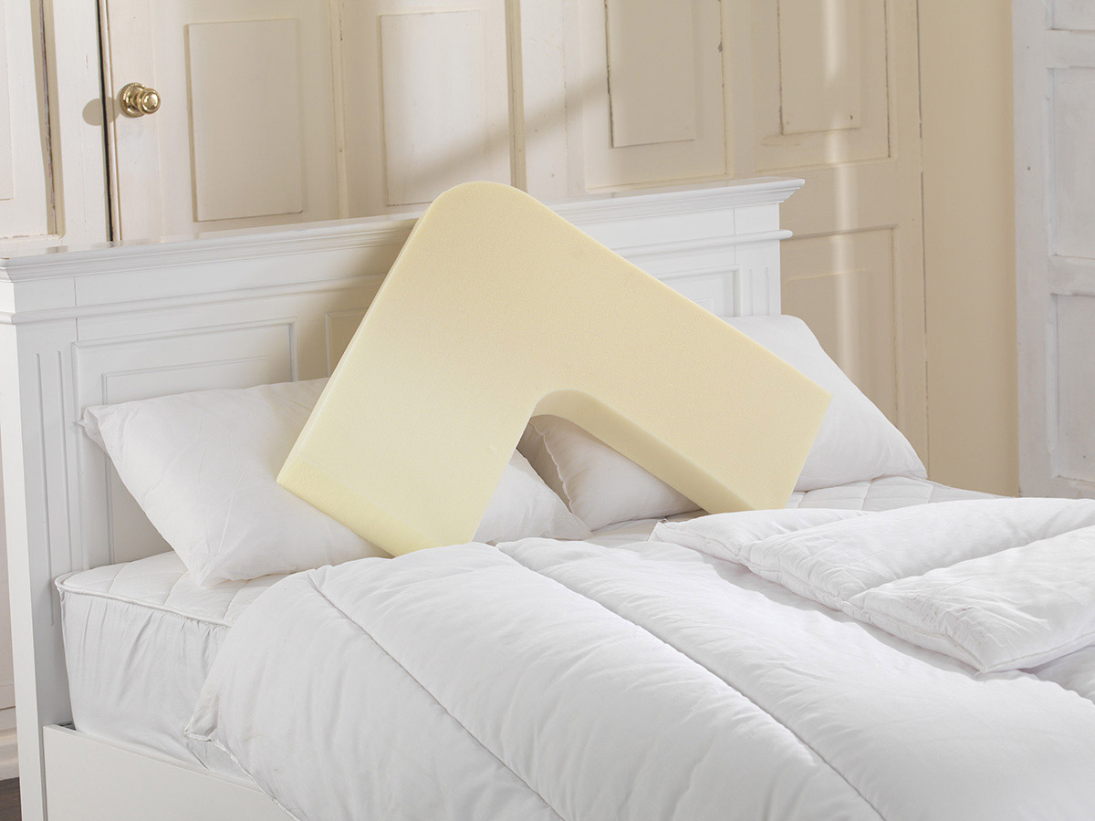 V Shape Memory Firm/ Hard Pillow with FREE 2 Pillowcases